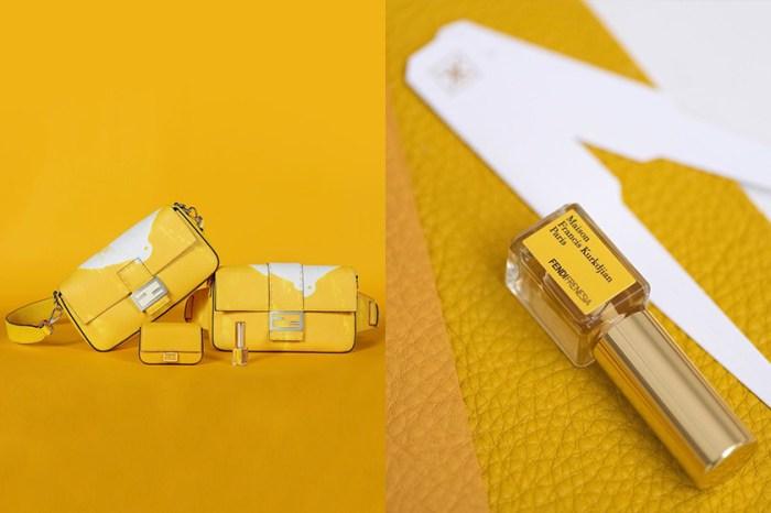 香氣可存留四年?溫暖淡雅的黃白相間,Fendi 推出全球第一款香水 Baguette Bag!
