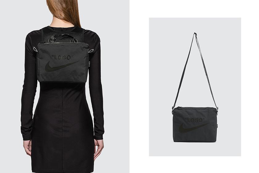 virgil abloh off white nike womens utility vest bag black release