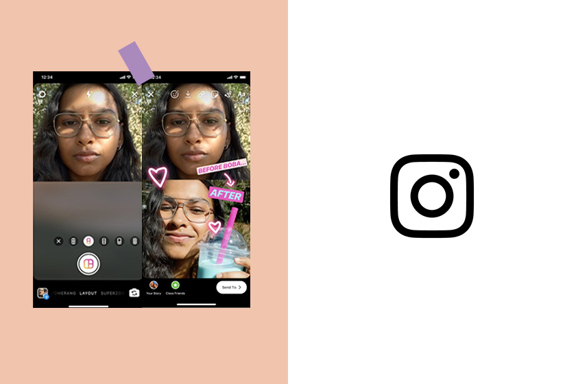 instagram stories layout multiple image upload