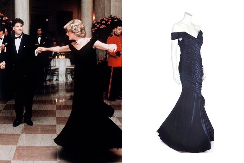 princess diana John Travolta gown 1985 sold price auction