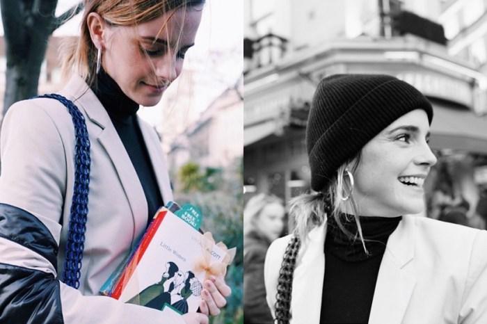向 Emma Watson 偷師:冬天手袋裡備一頂毛帽,原來可以變化出這麼多造型!