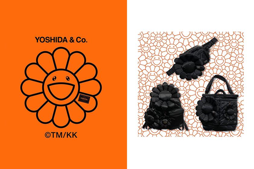 Takashi Murakami x Porter all black bag collection