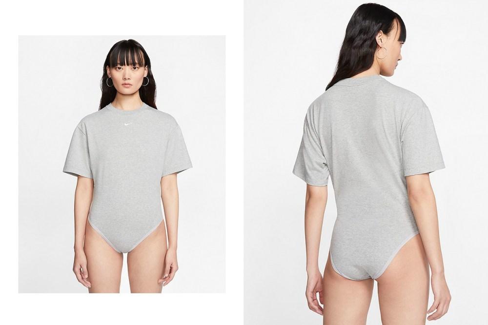 nike swoosh logo bodysuit t shirt