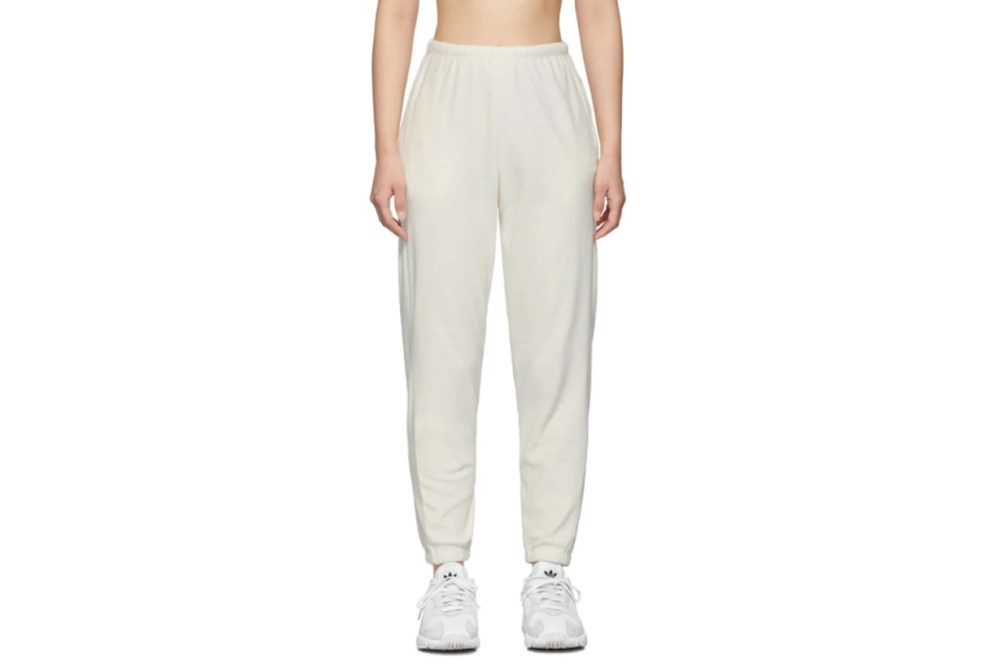 Gil Rodriguez SSENSE Exclusive Off-White Velour Beachwood Lounge Pants