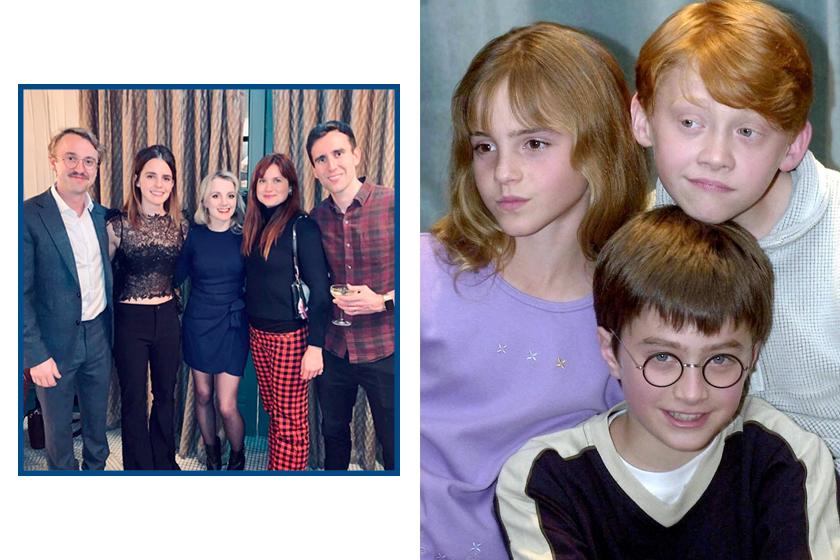 emma watson tom felton ginny Luna Neville harry potter hogwarts