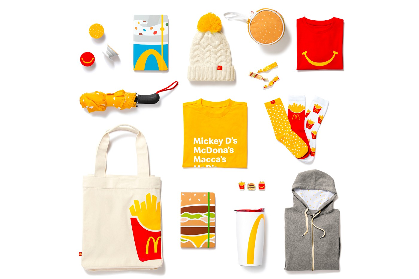 mcdonalds golden arches unlimited merchandise shop launch holiday items