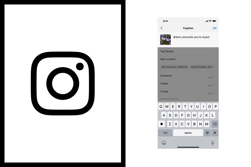 instagram new feature flags offensive captions