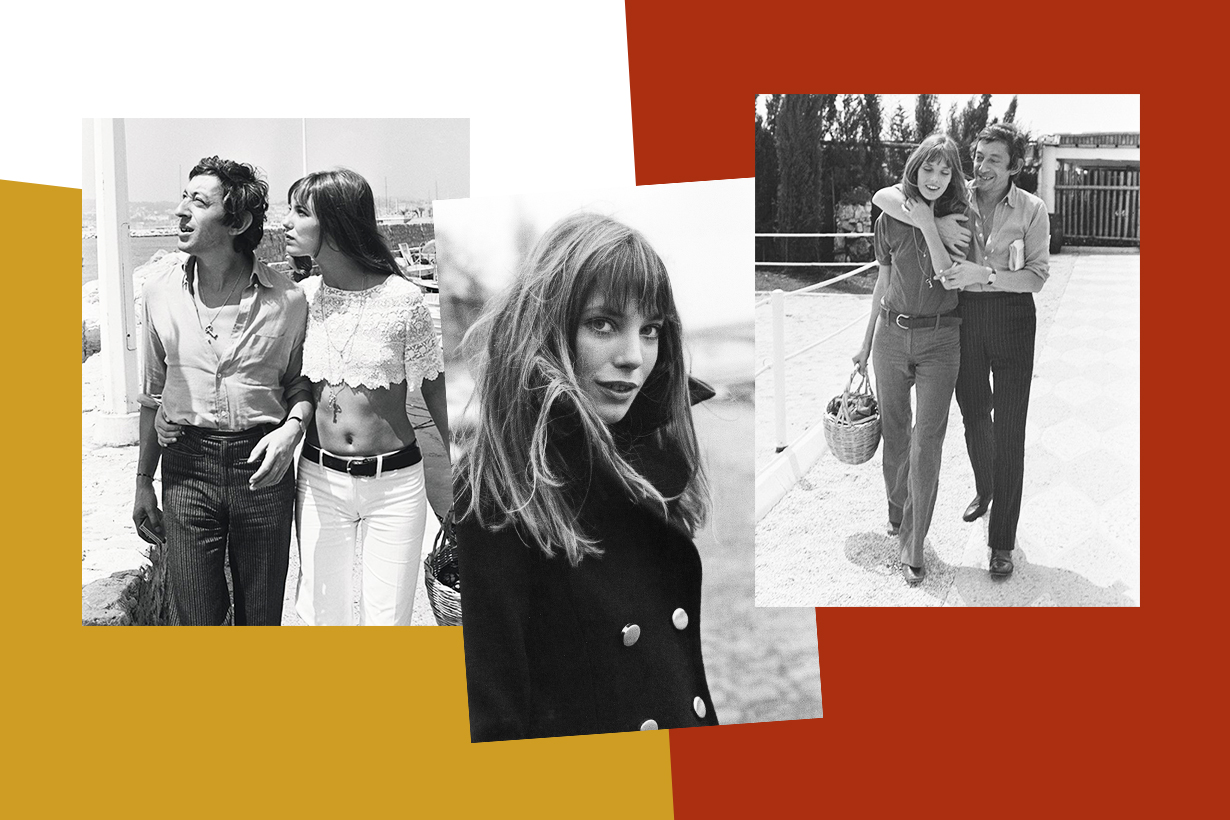 Jane Birkin British Singer Actresses David Birkin Judy Campbell Blowup Slogan Serge Gainsbourg e t'aime... moi non plus Hermés Birkin Bag