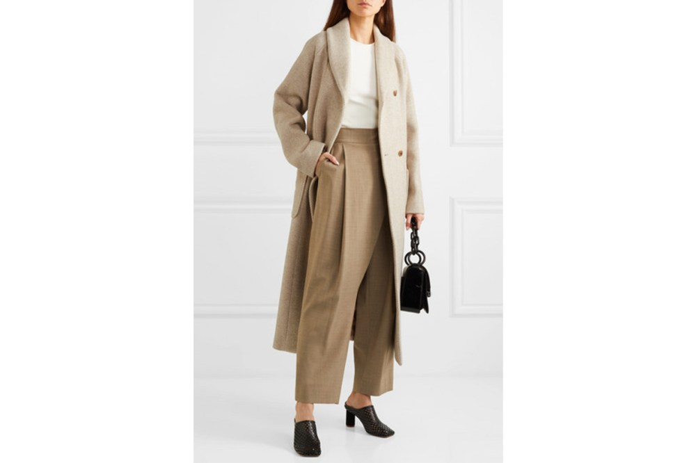 LE 17 SEPTEMBRE Belted Wool-blend Coat
