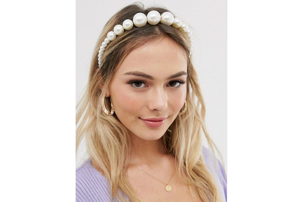 My Accessories London Exclusive graduated pearl headband