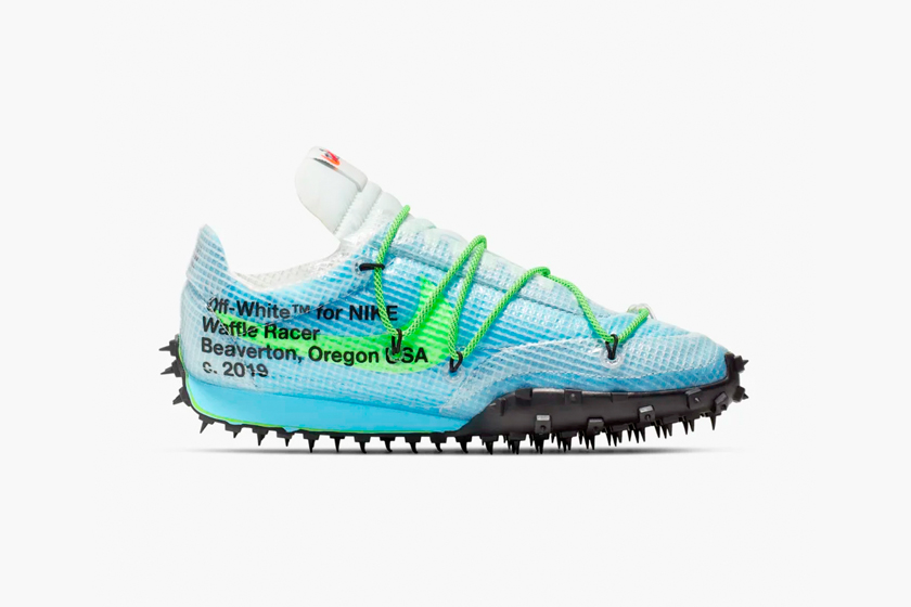 nike off white waffle racer athlete in prograss sneakers when debute