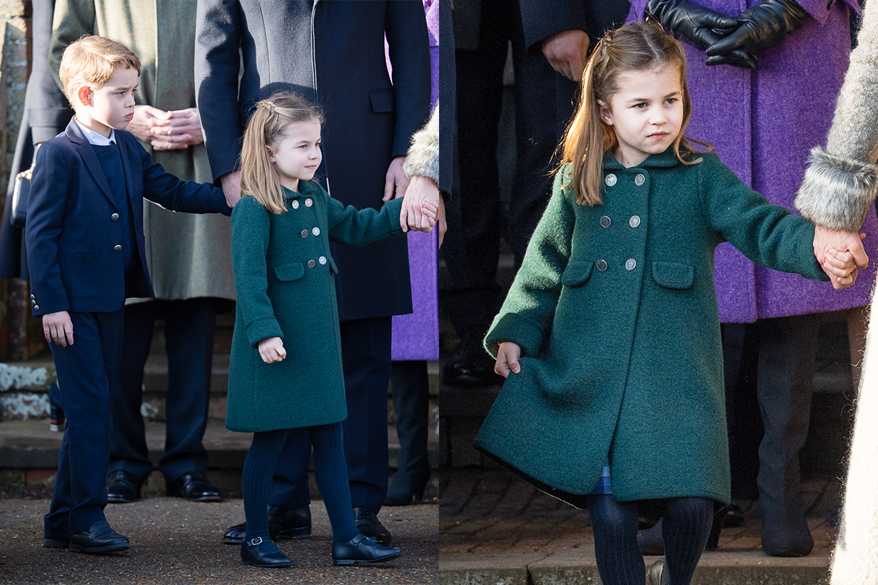 Princess Charlotte Prince George Prince Louis Prince William Kate Middleton Queen Elizabeth II Christmas 2019 Sandringham House St. Mary Magdalene Church British Royal Family