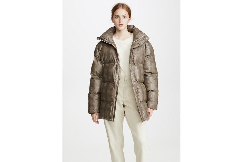 Rains Check Puffer Coat
