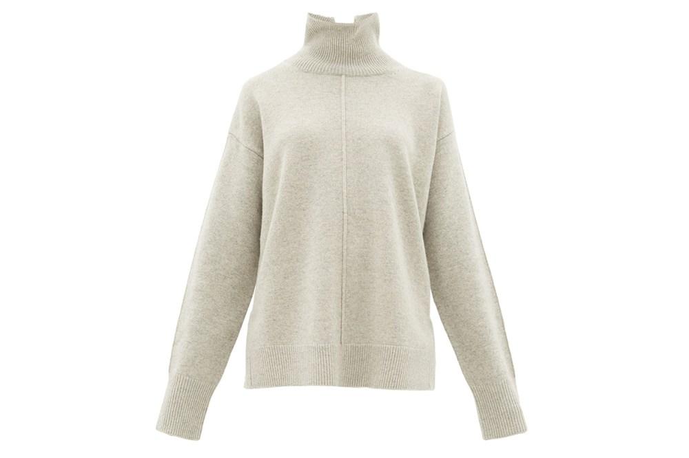 Roll-neck Oversized Wool Sweater