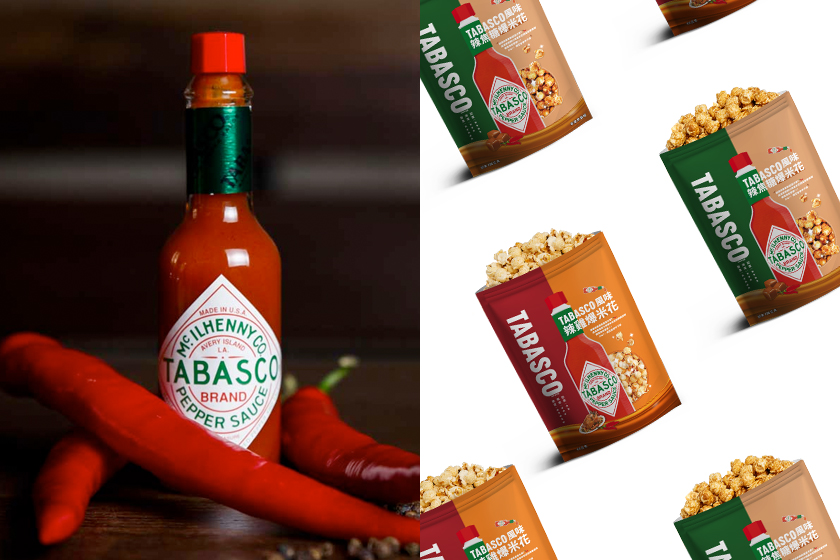 tabasco popcorn caramel chicken flavor limited taiwan