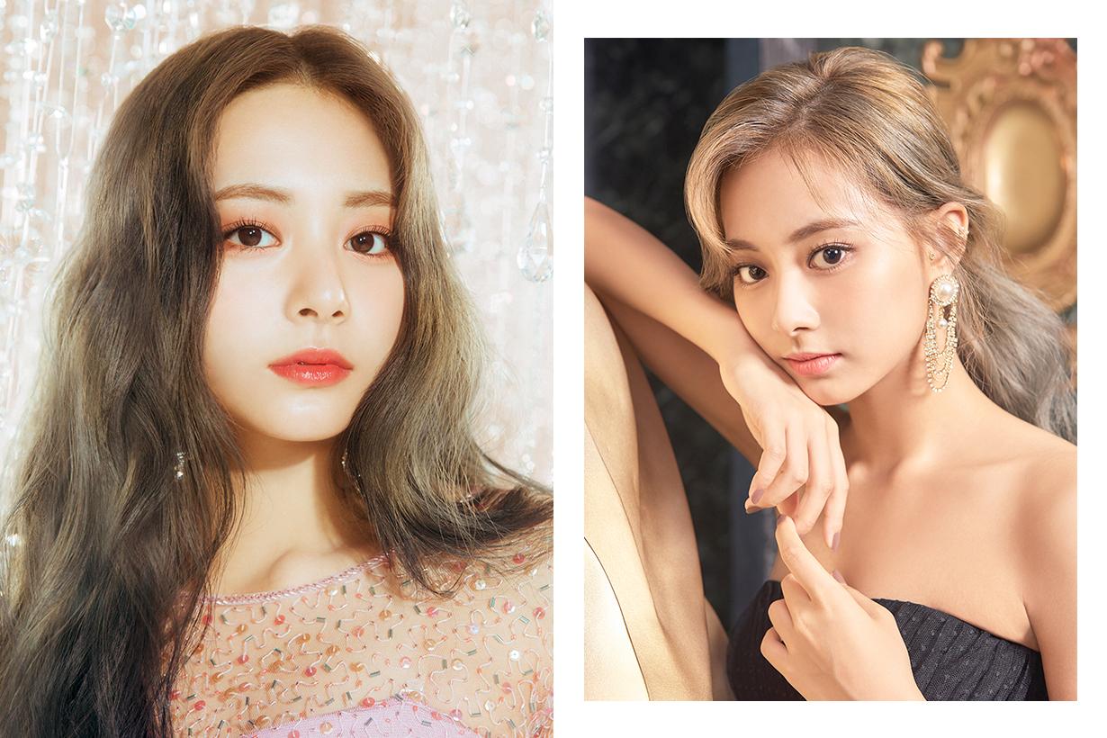 Twice Chou Tzu Yu Tzuyu High hair bun Celebrities Hairstyles Hair Accessories vintage style k pop korean idols celebrities singers girl bands