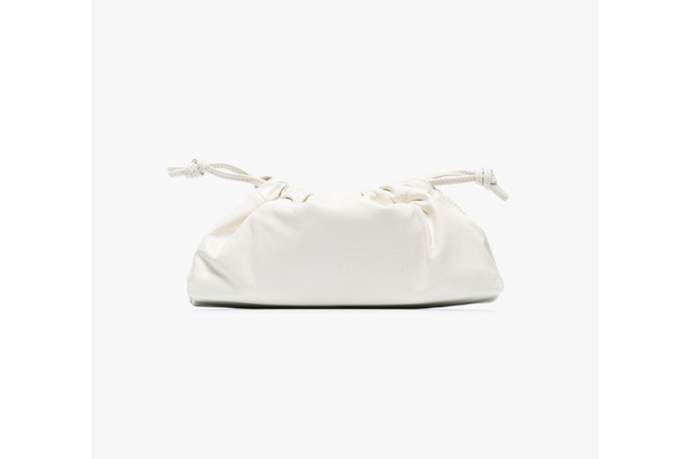 White 1.1 Drawstring Leather Mini Bag