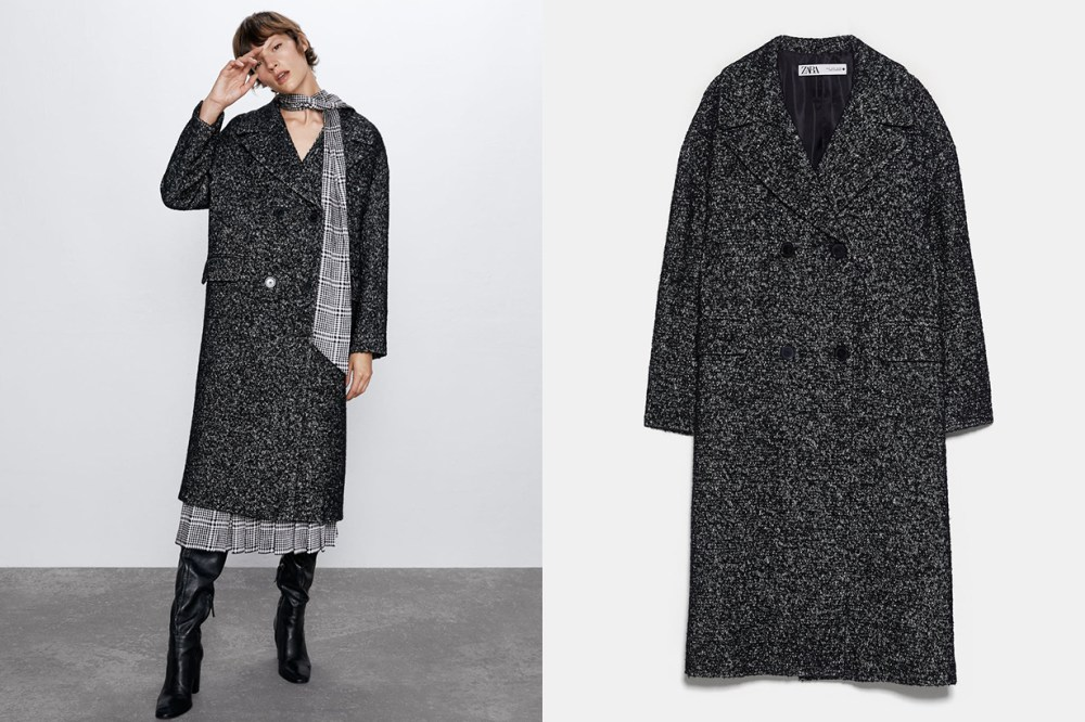 DOUBLE-BREASTED BUTTONED COAT