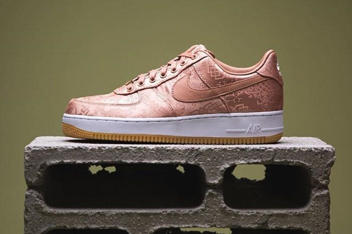 球鞋女孩專屬的玫瑰金:CLOT x Nike 經典絲綢 Air Force 1 鞋款終於推出粉色系!