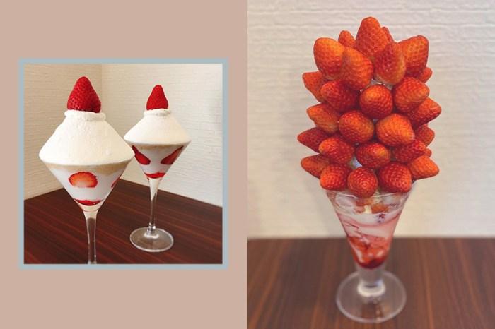 毫不客氣的堆滿草莓與各種水果:難怪這間甜點店在日本女生之間掀起討論!