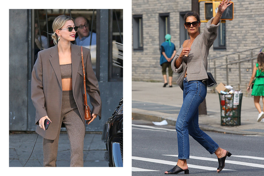 Hailey Bieber Cashmere Bra Celebrities Outfit Street Snap