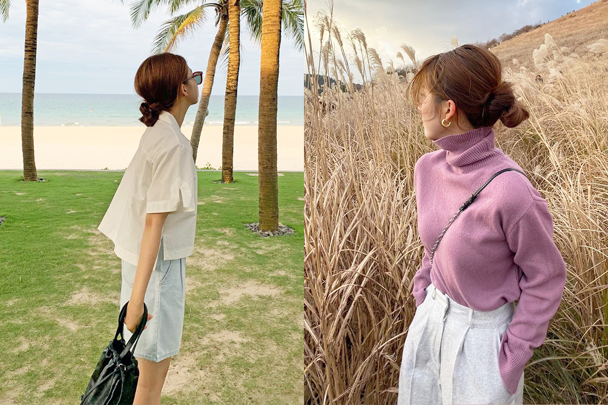 Messy Bun Hair bun Hairstyles Hair Tutorial korean girls