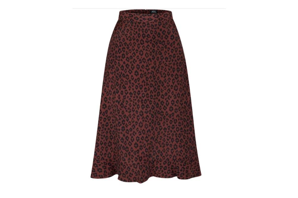A.P.C. Adena Leopard Print Skirt
