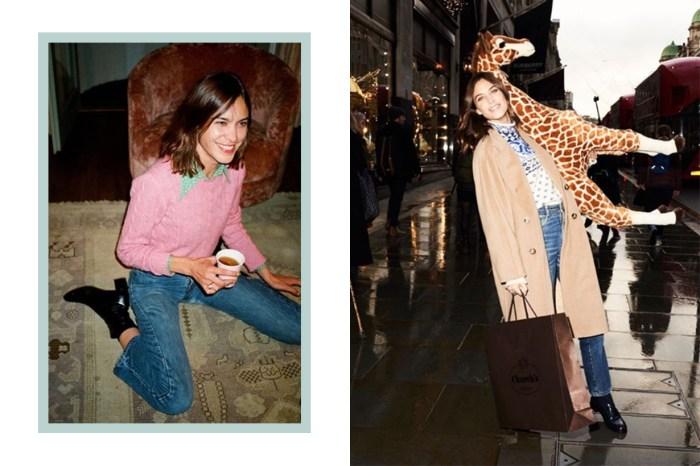 Effortless Chic 的經典代表 Alexa Chung,這款牛仔褲才是她多年來的最愛!