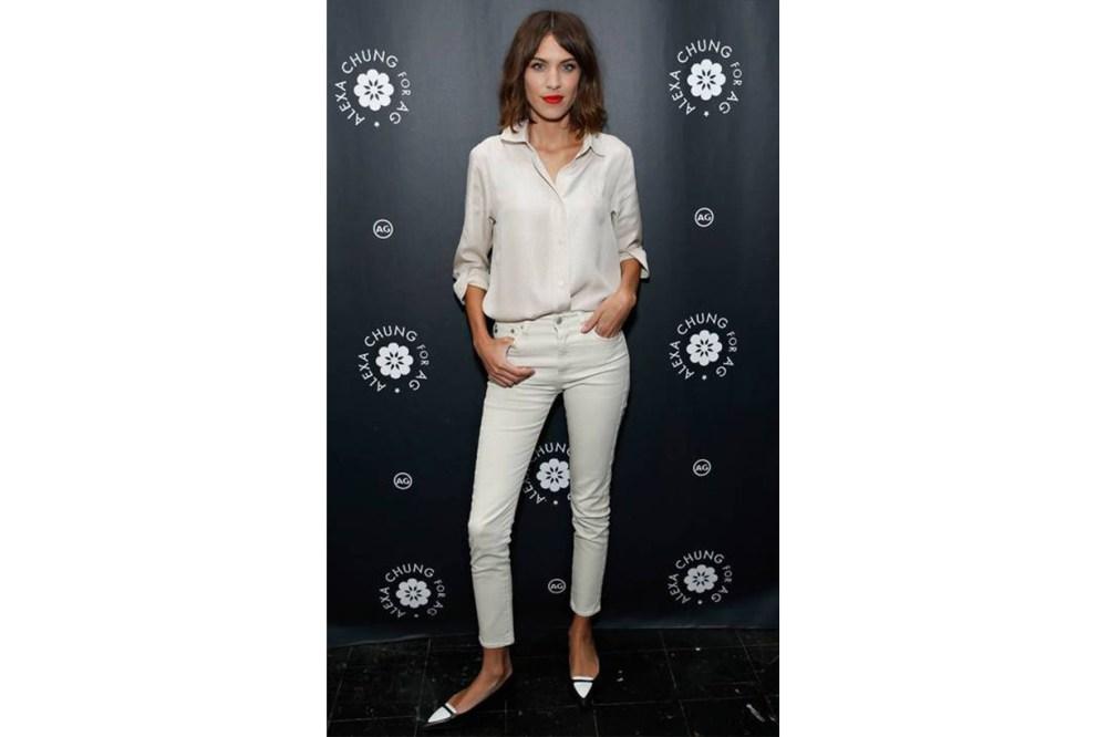 Alexa Chung white shirt style