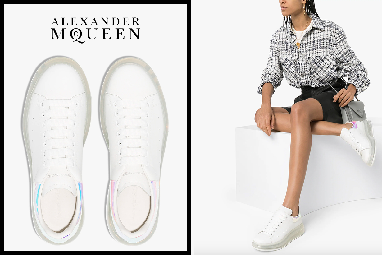 Alexander McQueen White Clear Sole Oversized Sneakers