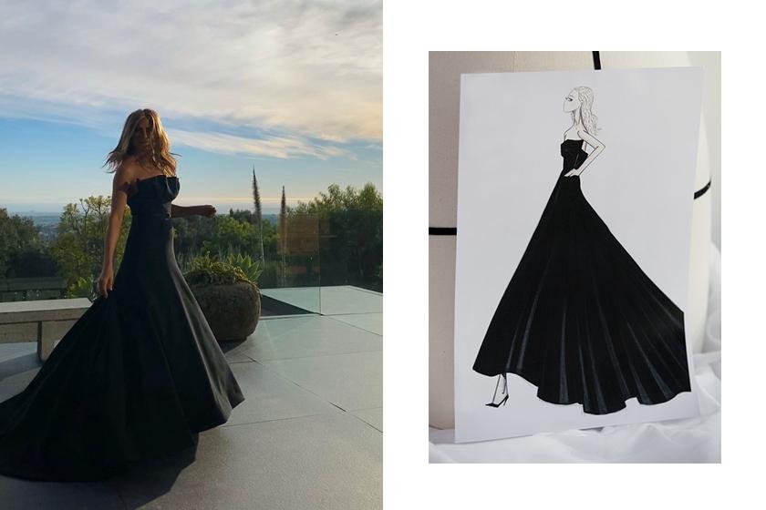 Jennifer aniston dior dress golden globes 2020