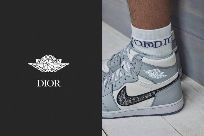 限量聯乘:Dior x Jordan Brand 低筒版實照曝光,發售數量僅為高筒版本的一半!