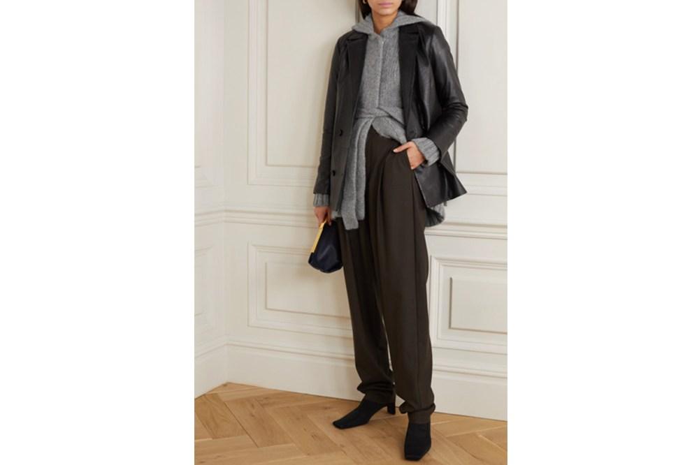 Belted Organic Wool and Alpaca-blend Cardigan