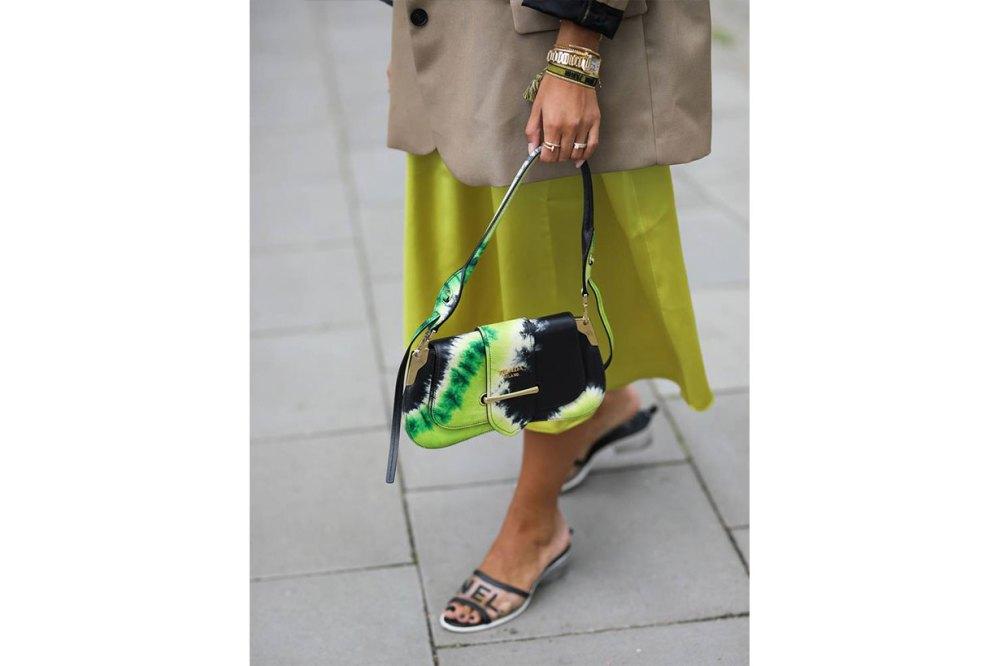 Chanel PVC Slides Street Style