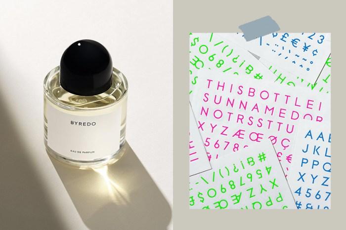 低調木質香:BYREDO 這款「沒有名字」的香水推出特別版,貼上浪漫縮寫!