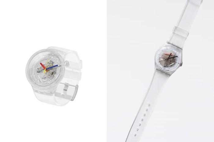 最經典款式:隔了 37 年,Swatch 重新復刻推出這一款極簡全透明手錶!