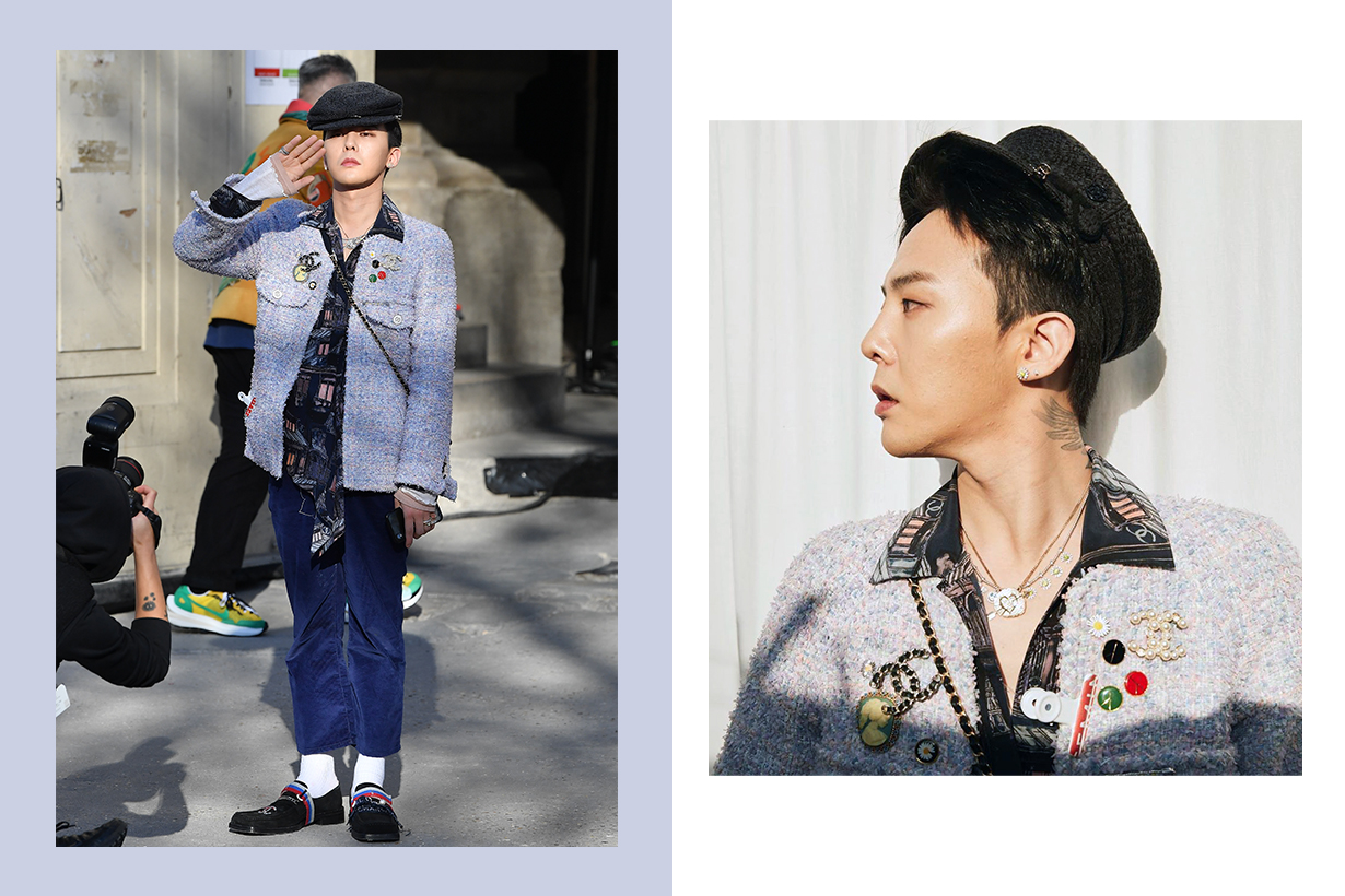 G-Dragon Paris Fashion Week 2020 Chanel Handbags Chanel 19 Chanel x Pharrell Williams Crossover Collection Celebrities style k pop korean idols celebrities singers