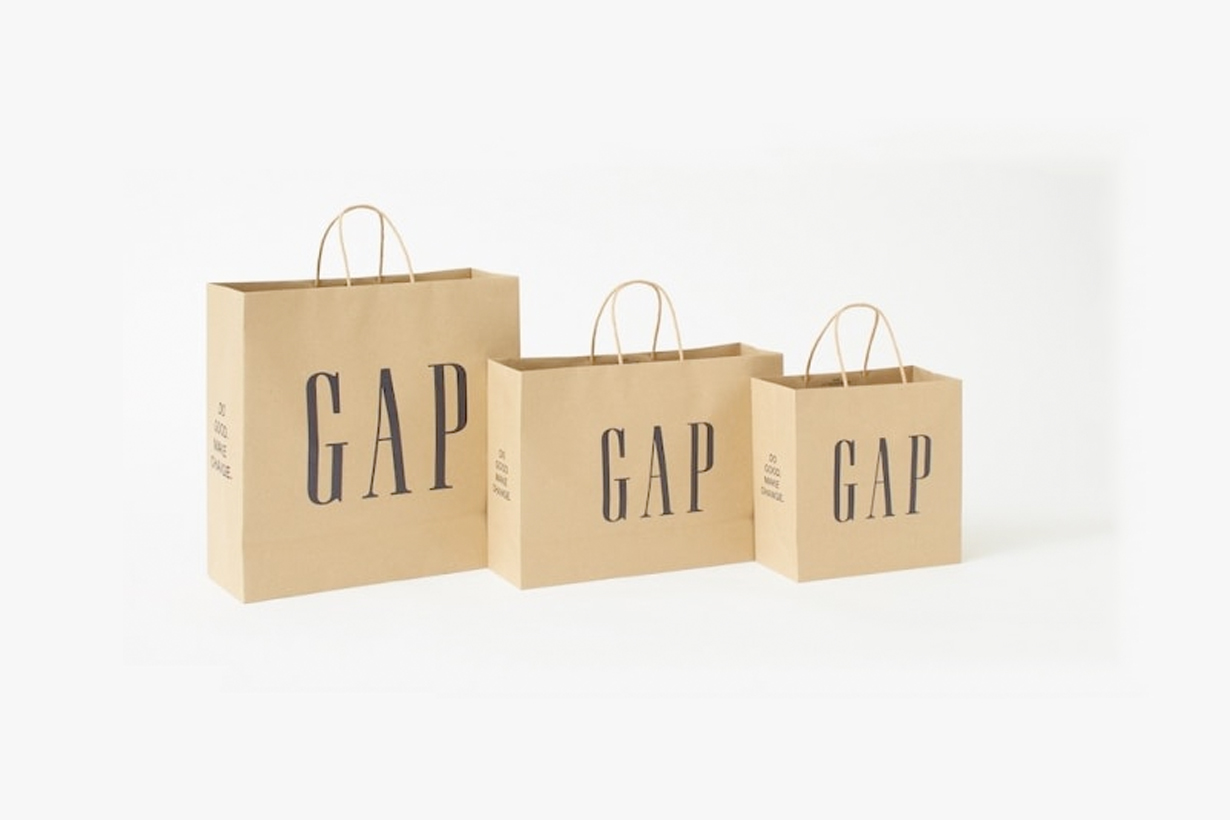 gap stop plastic recycle shopping bag paper new policy