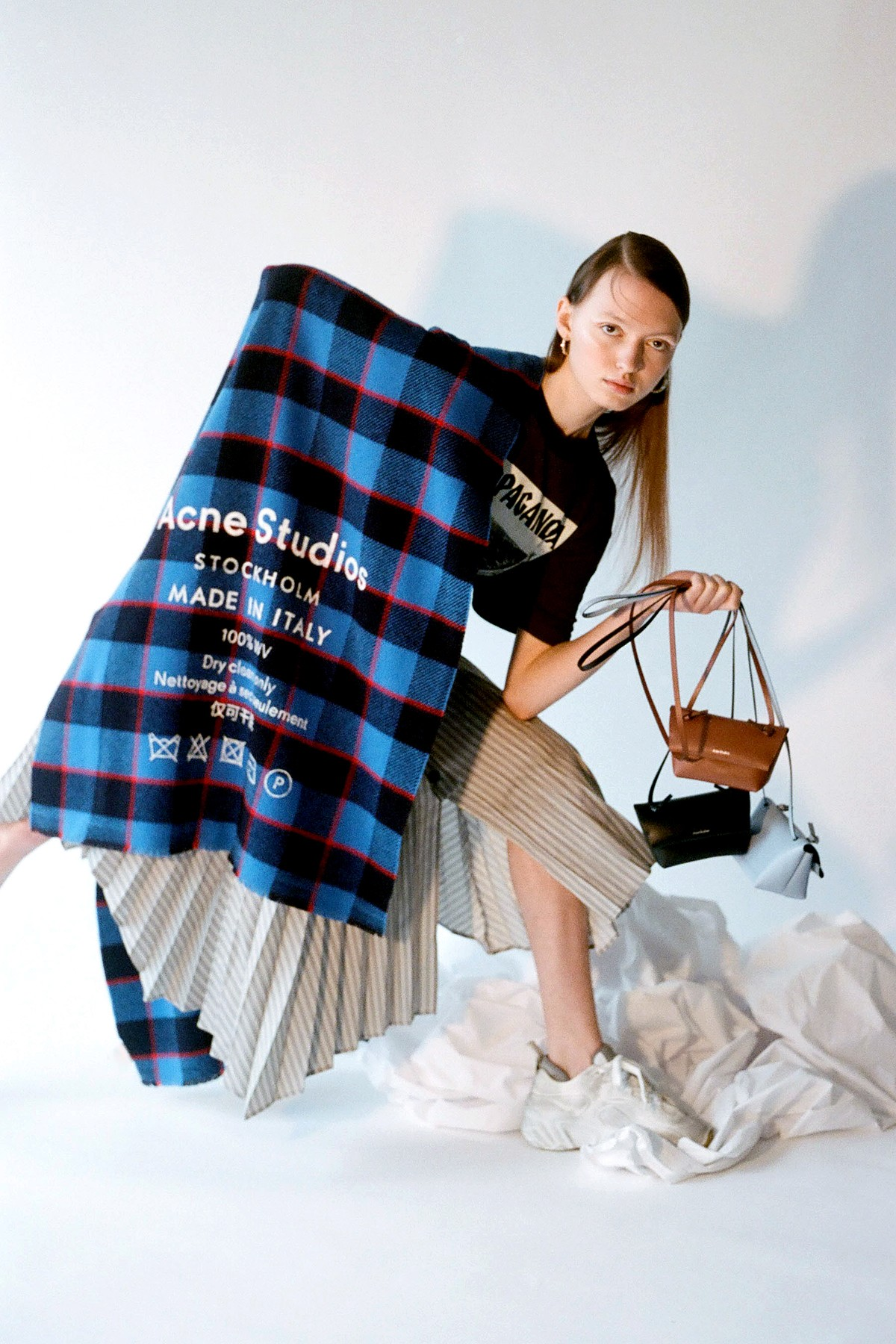 acne studios spring summer collection handbags scarf t shirt release