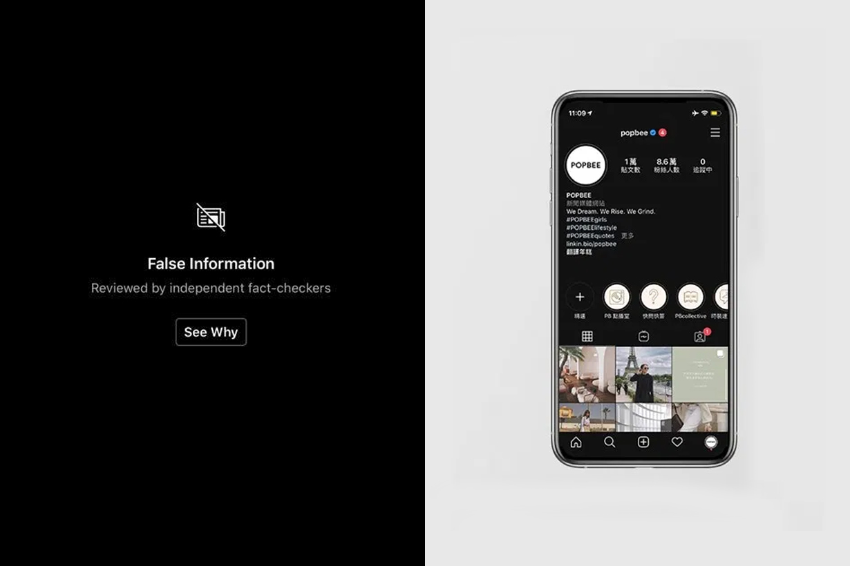 instagram facebook fact checkers hide fake content photoshop