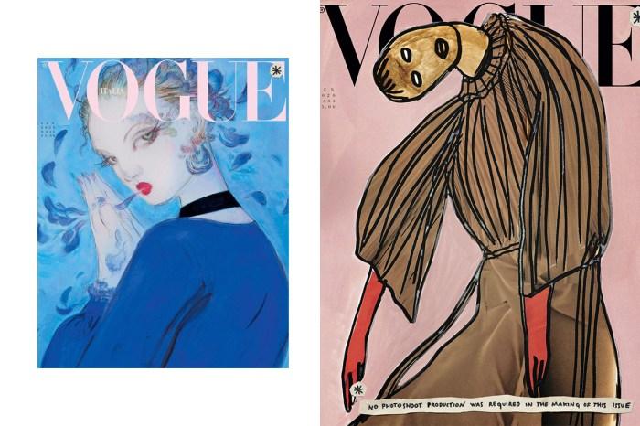 沒有照片的雜誌封面:時尚先鋒意大利《Vogue》,1 月號怎麼了?