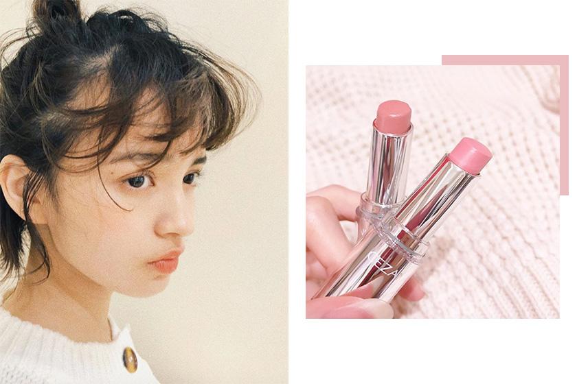 japan lipstick Cezanne Lasting Gloss Lip BE1