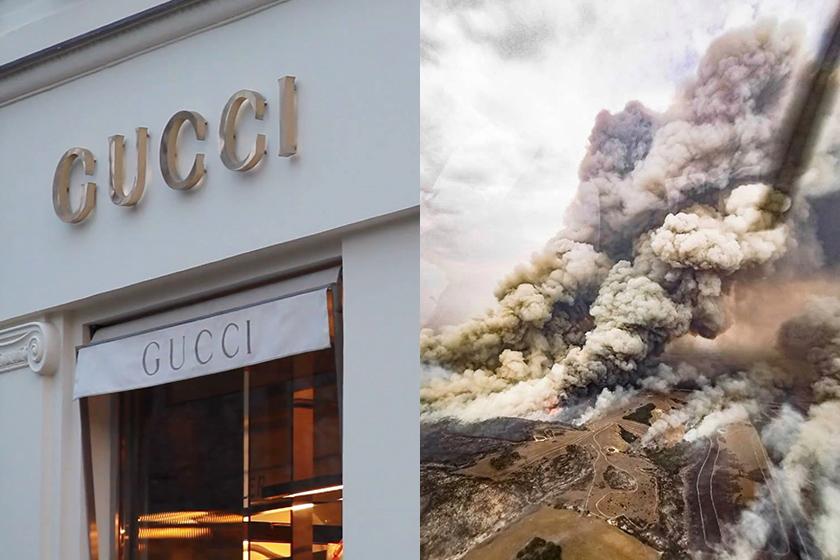 australia bushfire disaster gucci bottega veneta balenciaga kering luxury brands donation