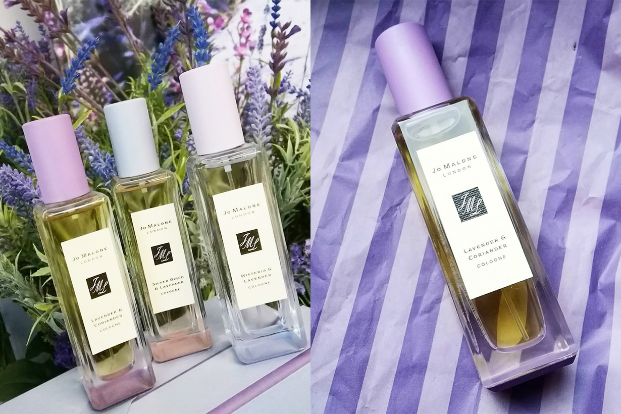 Jo Malone London March Lavender and Coriander Silver Birch and Lavender Lavender and Musk Perfume Fragrances Cologne Limited Edition