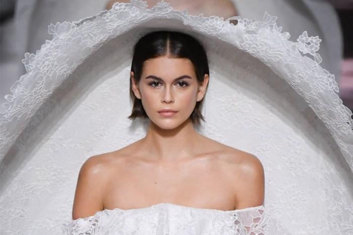 #PFW:Givenchy 這襲高訂蕾絲婚紗,Kaia Gerber 駕馭起來一致好評!