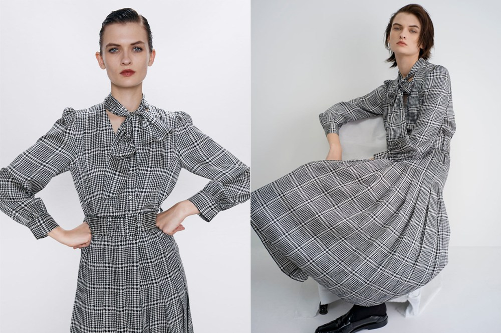 Zara PRINTED DRESS WITH BELT