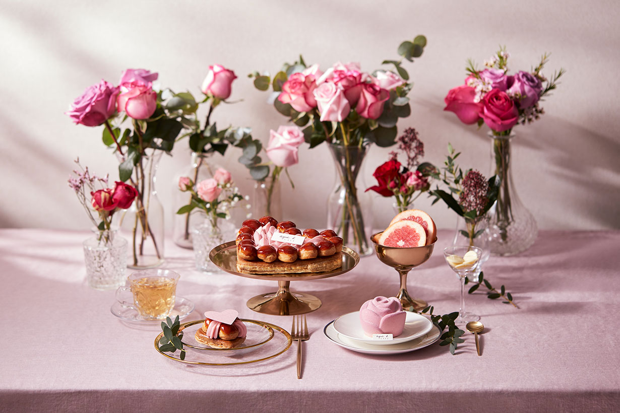 'La Saint-Valentin' Love is in the air with agnès b. CAFÉ & FLEURISTE