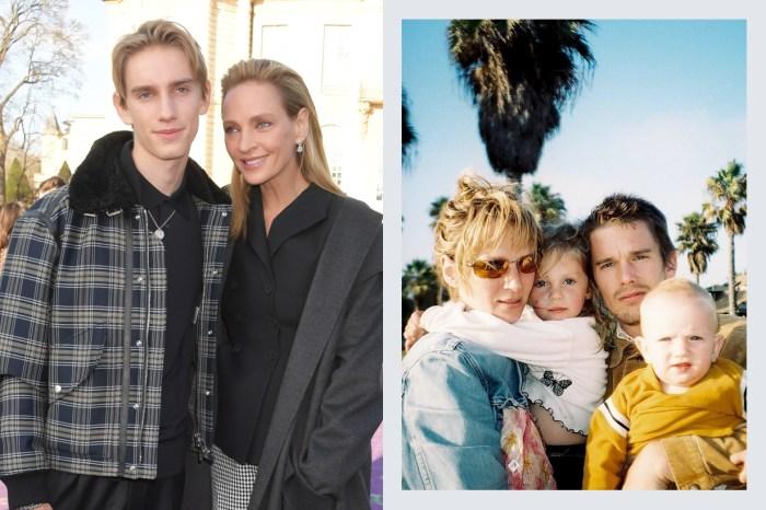 Dior 高訂秀的場外焦點:難掩靦腆的氣質,Uma Thurman 兒子轉眼已是位大男孩了!