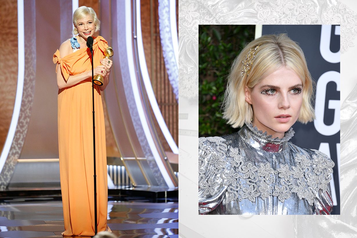 Michelle Williams and Lucy Boynton Wore Louis Vuitton Gowns for Golden Globes 2020