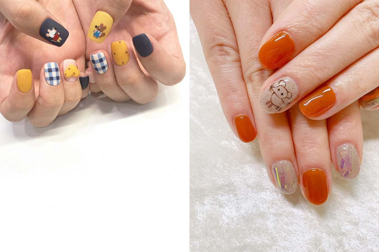 Lunar Chinese New Year of the Rat Manicure Nails Arts Design Mickey Mouse Tom and Jerry Japanese Girls Korean Girls